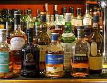 A small selection of Islay whiskies, Southern Hebrides cruise