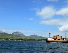 anchored off Jura