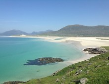 The beach at Luskenyre, Harris.