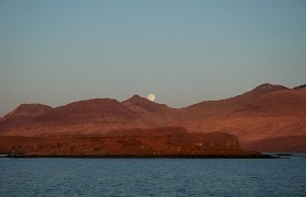 Moon rising over Mull