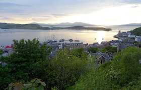 Majestic Line ships moored in Oban at Sunset, Christine Haslegrave